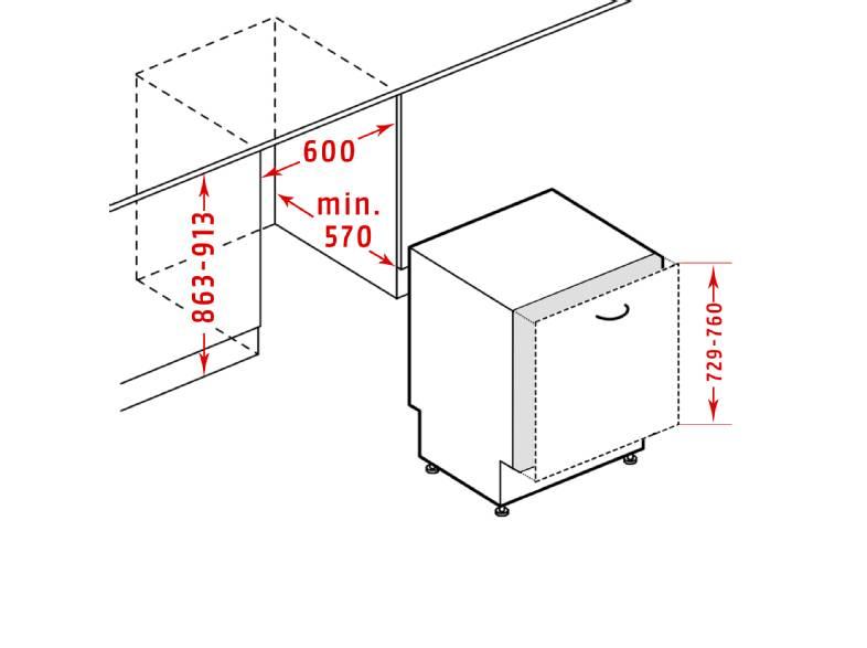 Beko Vaatwasser BEKO DIT38430   Volledig geïntegreerd   A+++