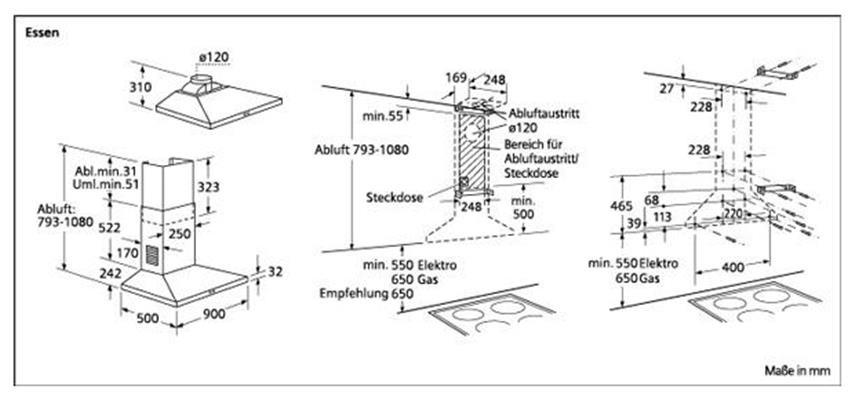 Siemens SIEMENS LC45952EU Wandschouwkap (motorloos)