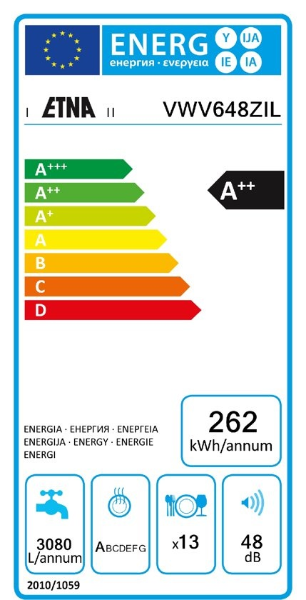 Etna ETNA VWV648ZIL - Vrijstaande Vaatwasser