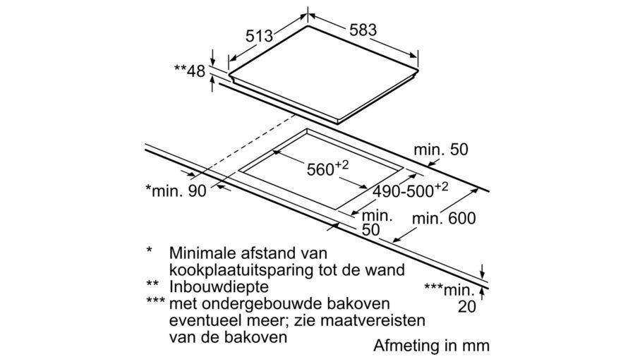 Bosch Bosch PKF645V17E Elektrische kookplaat 60CM