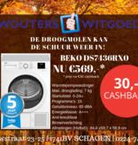 Beko Beko DS7436RX0 | 7kg| A+++ | SELECTIVE WARMTEPOMPDROGER