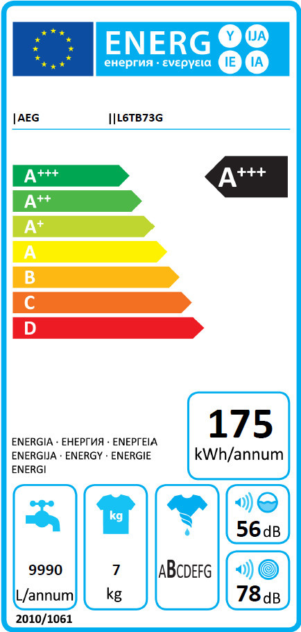 AEG AEG bovenlader wasmachine wit  L6TB73G