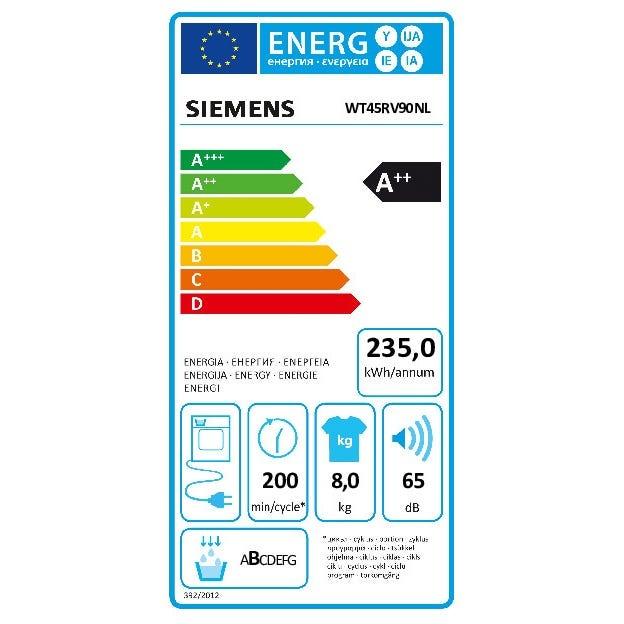 SIEMENS Siemens Warmtepompdroger WT45RV90NL