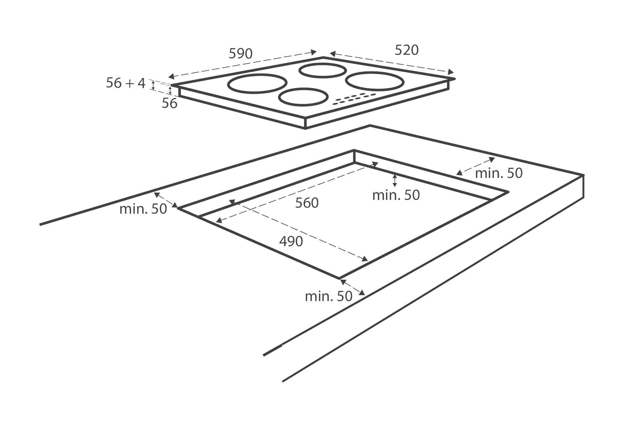 Inventum IKI6035 Inbouw inductiekookplaat