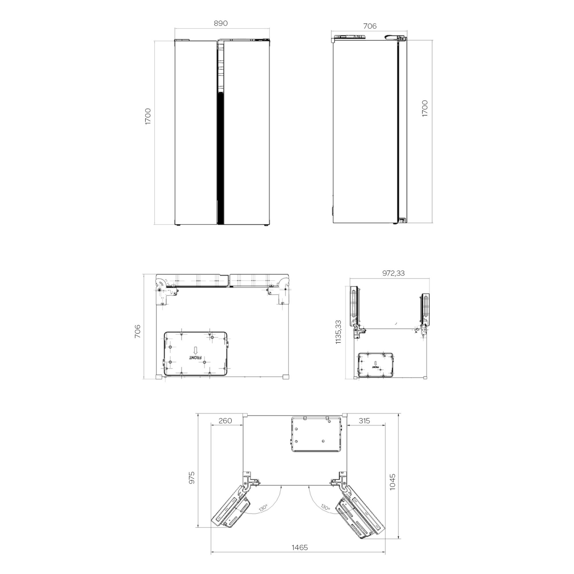 Inventum Inventum SKV0178B Amerikaanse Koelkast