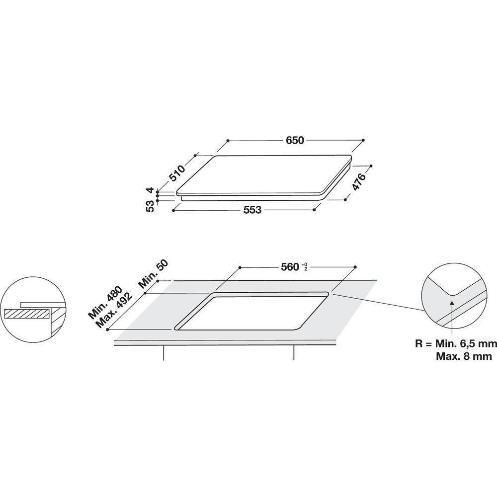 Whirlpool Whirlpool SMO 658C/BT/IXL Inductie kookplaat - Inbouw