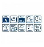 Bosch Bosch SPV25CX03E Volledig geïntegreerde vaatwasser45 cm