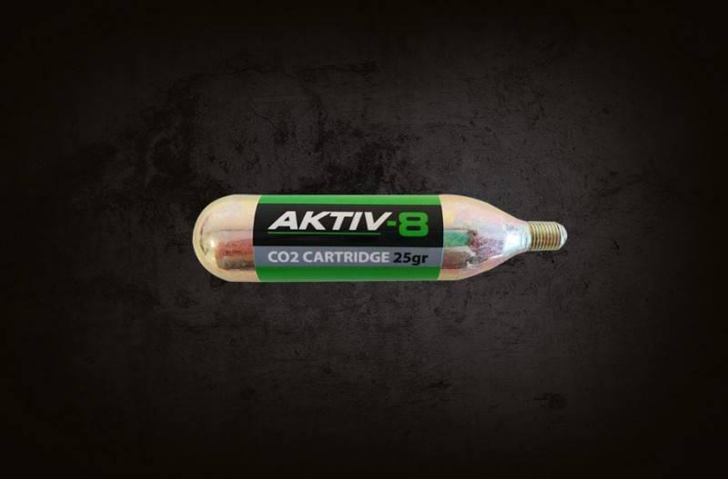 20x Aktiv-8 Co2 patroner 25 gram med gevind