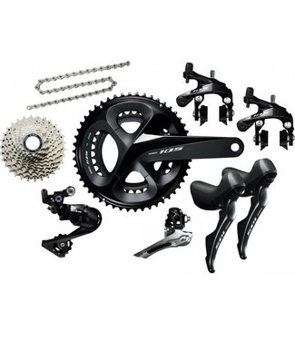 SHIMANO Shimano 105 R7000 11 speed Sort  Geargruppe