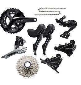 SHIMANO Shimano 105 R7020 Disc 11 speed Sort Geargruppe