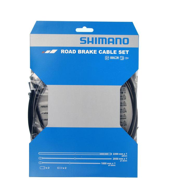 Shimano Bremsekabelsæt Rustfrit Stål Sort Race