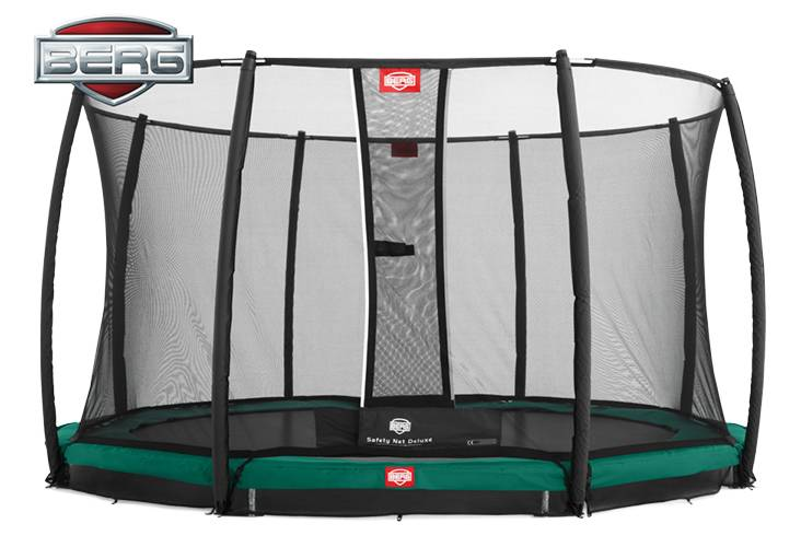BERG Toys  BERG InGround Champion 330 groen + Safetynet Deluxe