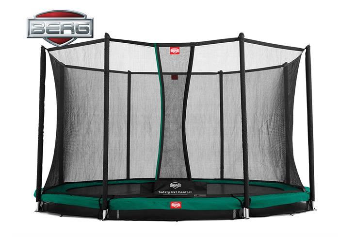 BERG Toys  BERG InGround Champion 430 groen + Safetynet Comfort