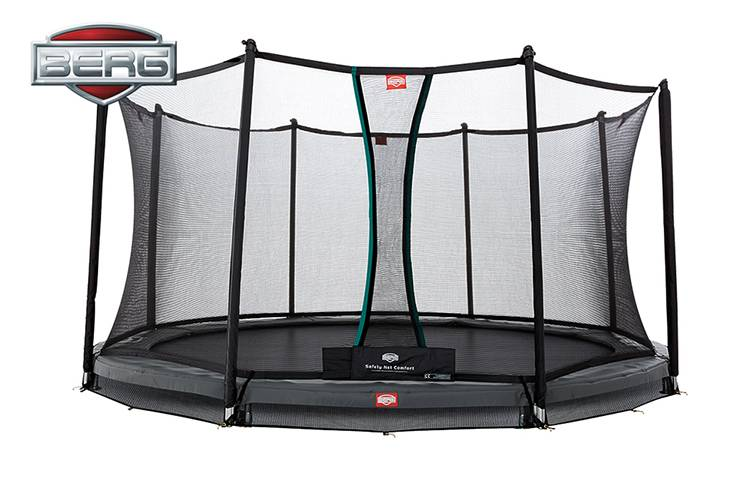 BERG Toys  BERG InGround Champion 330 grijs + Safetynet Comfort