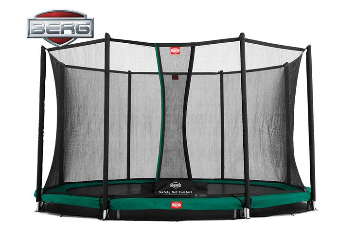 BERG Toys  BERG InGround Champion 430 grijs + Safetynet Comfort
