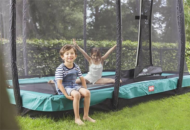 BERG Toys  BERG InGround EazyFit groen + Safetynet Deluxe