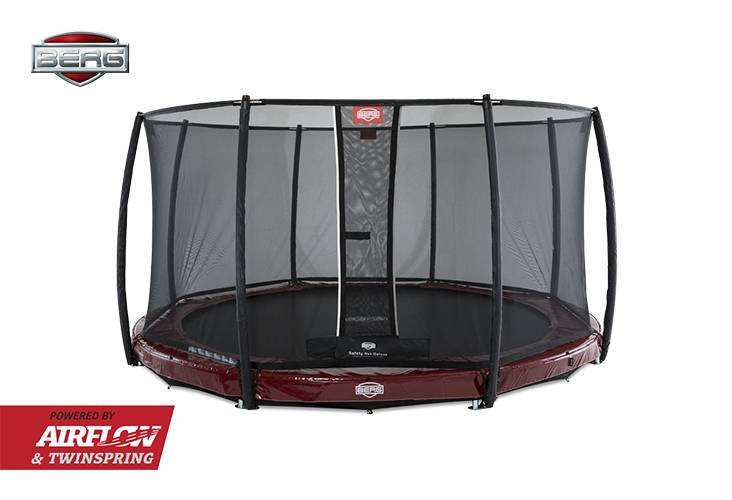 BERG Toys  BERG InGround Elite 330 rood + Safetynet Deluxe