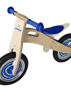 Simply Simply houten loopfiets blauw