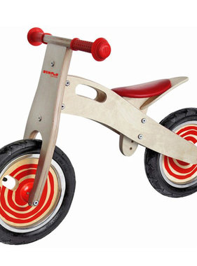 Simply Simply houten loopfiets rood