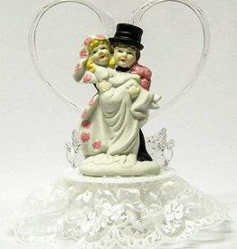 Zeer Leuke komische bruidspaar taarttopper