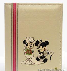Moderne gastenboek met Mickey en Minnie