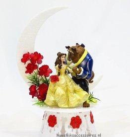 Belle en het Beest bruidstaart topper - maan