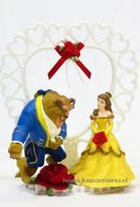 Disney Belle en het Beest bruidstaart topper