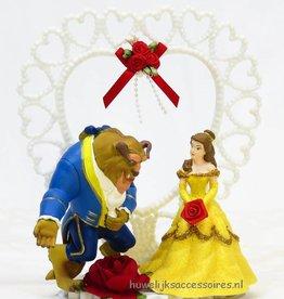 Disney Belle en het Beest bruiloft taarttopper