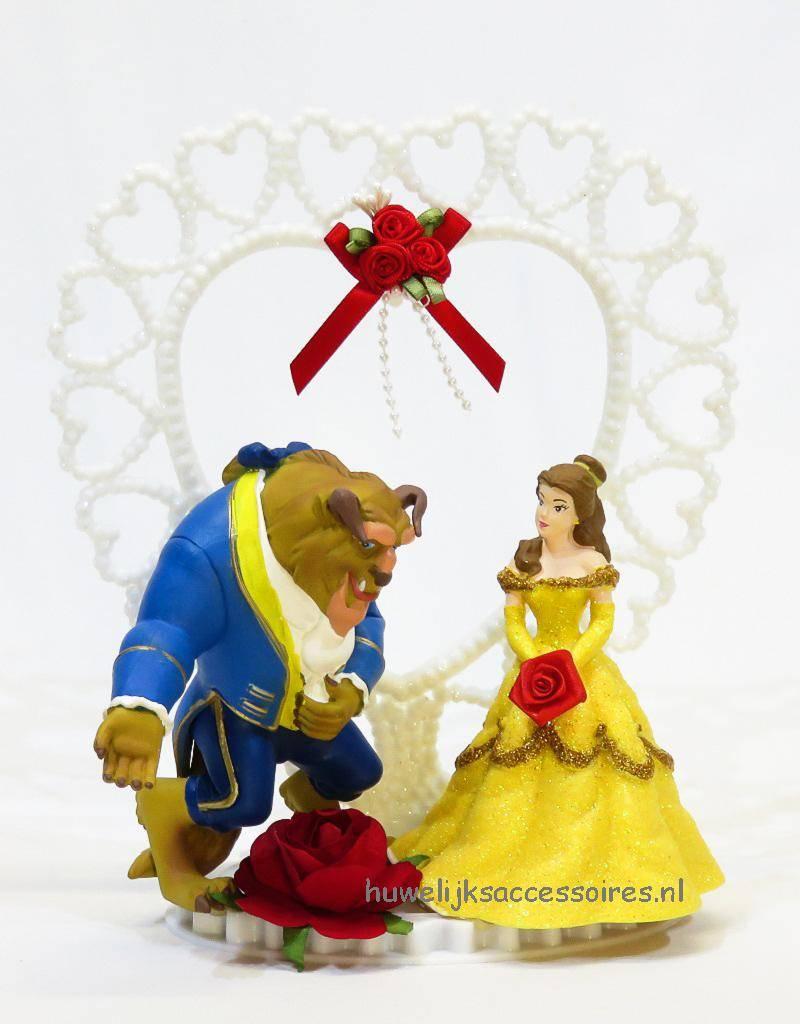 Disney Disney Belle en het Beest bruidstaart topper