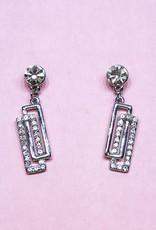 Zilver oorbellen met strass steentjes