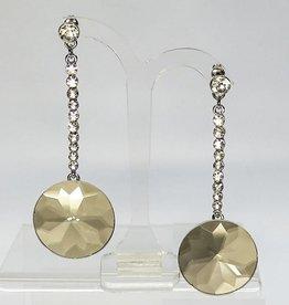 Schitterende zilveren strass oorbellen