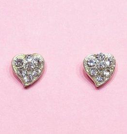Zilveren hart oorstekers