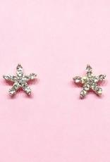 Zilveren oorbellen met strass steentjes
