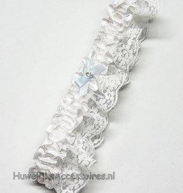 Witte romantische kousenband
