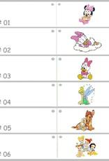 Disney Leuke doop bedankje met slapende Daisy Duck erop