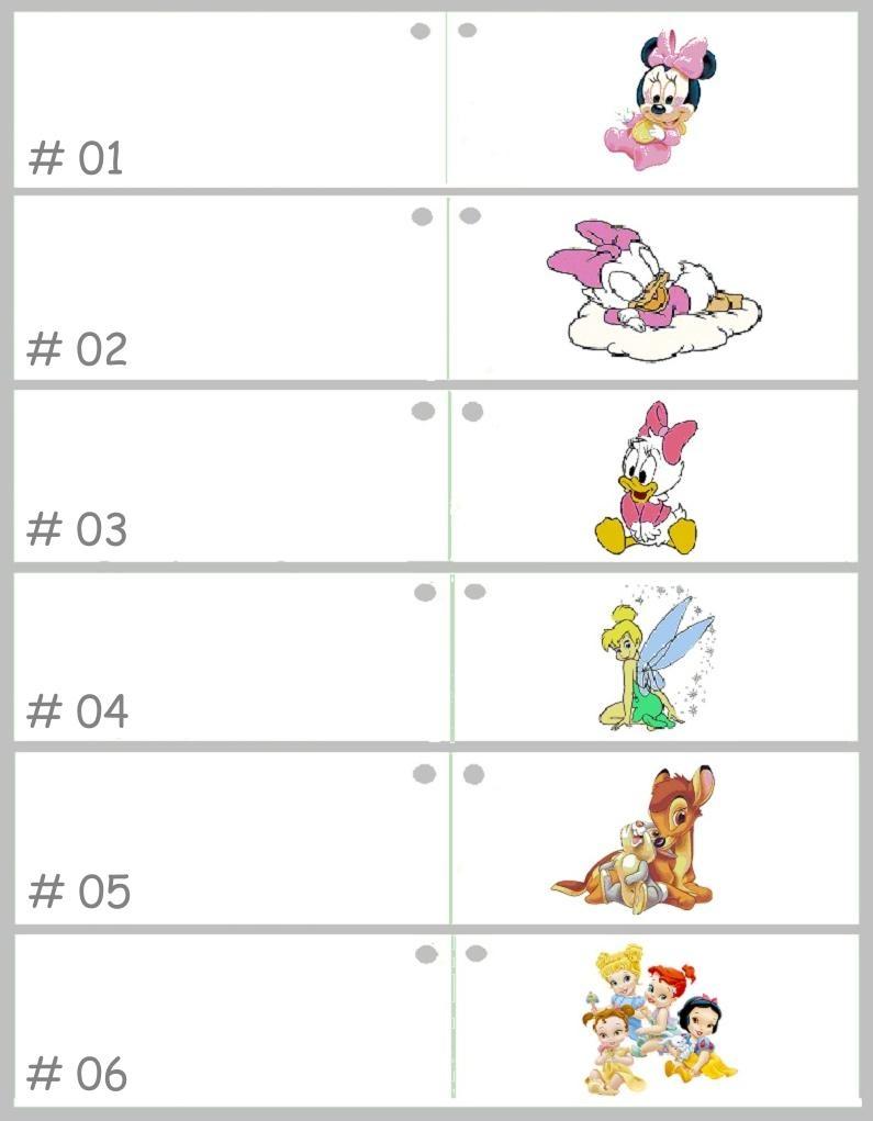 Geboorte bedankje met vier Disney Prinsessen erop