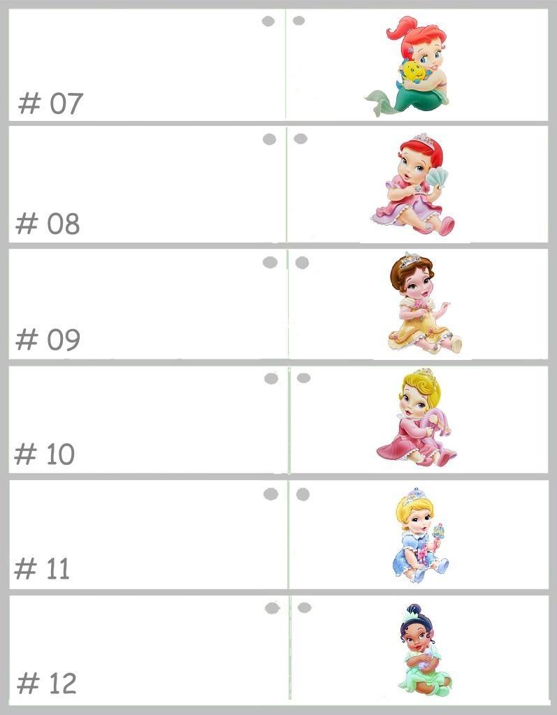 Disney Geboorte bedankje met vier Disney Prinsessen erop