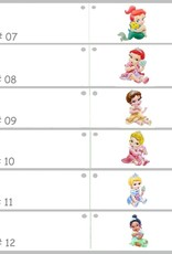 Disney Babyshower bedankje met Prinses Belle op de voorkant