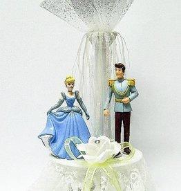 Cinderella en Prins Charming bruidstaart topper