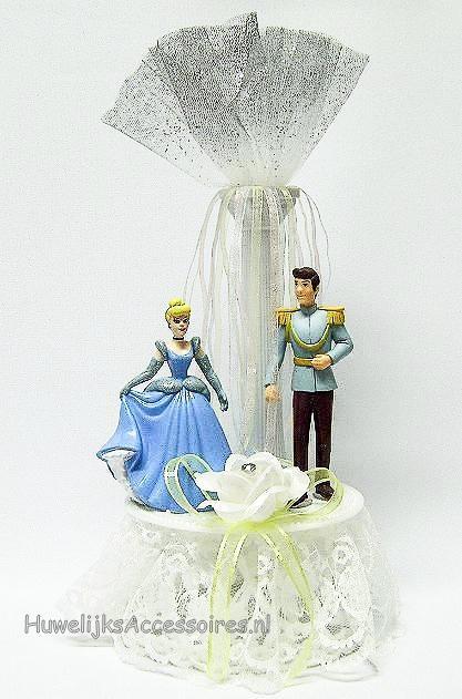 Cinderella en Prins Charming huwelijkstaart topper