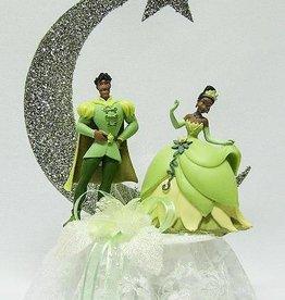Prinses Tiana en Prins Naveen huwelijkstaart topper