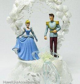 Prinses Cinderella en Prins huwelijkstaart topper