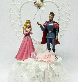 Disney Prinses Aurora en Prince Phillip bruidstaart topper