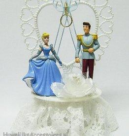 Cinderella met Prins Charming taarttopper