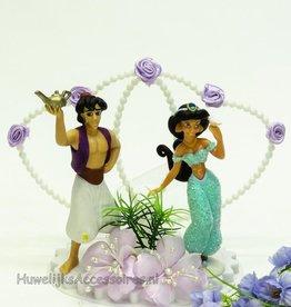 Aladdin en Jasmijn bruidstaart topper