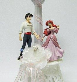 Disney Prinses Ariel en Prins Eric bruidstaart topper