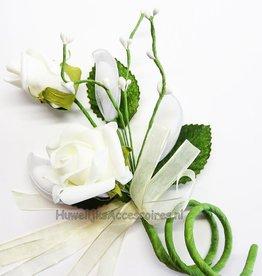 Rozen boeket bedankje met witte dragees
