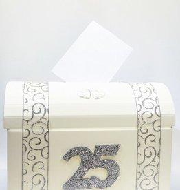 Zilver jubileum bruiloft enveloppendoos