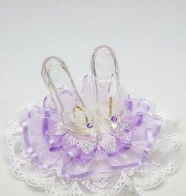Glazen slippers huwelijks taarttopper