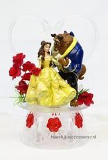 Romantische Disney taarttopper met Belle en het Beest